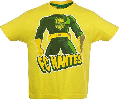 FC Nantes - Tee Shirt Enfant - Tee Shirt 100% coton mixte collection officielle FC Nantes - T-shirt unisexe pour le sport
