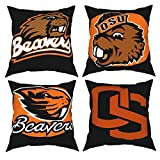 Oregon State Beavers Throw Pillows Case Cushion Bedding Throw Pillows 4 Sizes Bed and Couch Indoor Decorative Pillows Cover 20'x20'