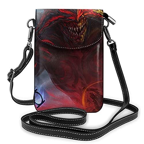 XCNGG Monedero pequeño para teléfono celular Path of Exile Crossbody Bags for Women's Crossbody Handbags Cell Phone Purse Waterproof Leather Handbags Small Wallet