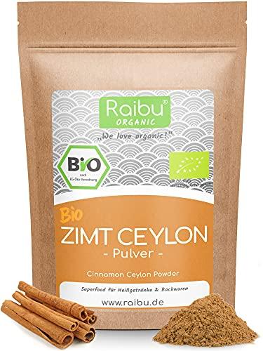 RAIBU® Zimt Ceylon BIO 275g I Reines Zimtpulver gemahlen ideal zum Backen oder Würzen I Zu 100{9f8ad3383f3595f97c985ee748fb1081a51960018d356774570c4c7c2bf4ff8a} natürlicher Bio Ceylon Zimt Vegan, sehr aromatisch, abgefüllt in Deutschland