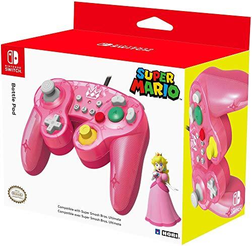 HORI Nintendo Switch Battle Pad (Peach) Controller im GameCube-Stil