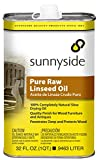 Sunnyside Corporation 87332 Pure Raw Linseed Oil, Quart