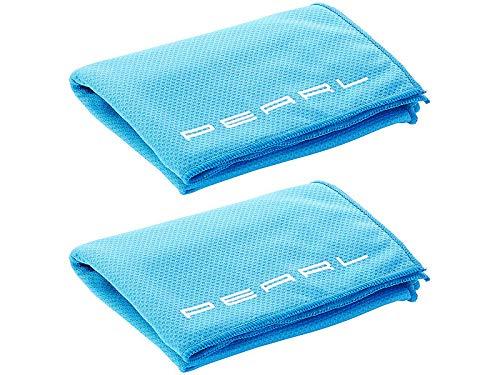 PEARL Kühlhandtücher: Effektiv kühlendes Multifunktionstuch, 110 x 35 cm, 2er-Set (Cool Towel)