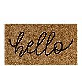 """Barnyard Designs 'Hello' Doormat, Indoor/Outdoor Non-Slip Rug, Front Door Welcome Mat for Outside Porch Entrance, Home Entryway Farmhouse Decor, 30' x 17"""""""