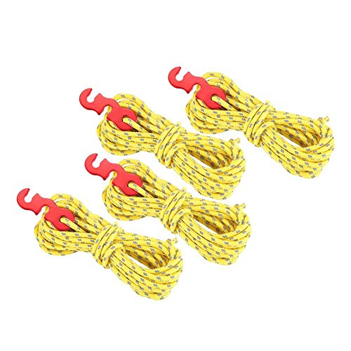 Seacanl High Toughness Anti-Slip Wind Rope, Polyester Tent Wind Rope, for Material Binding Rope Clothesline(yellow)