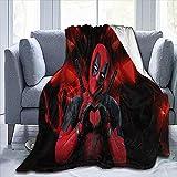 Avengers Deadpool Movie Comic Fleece Twin Size Blanket Plush Blanket Travel Blanket Easy Care 60 x 80 inch