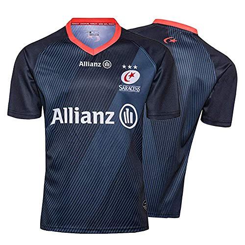 Herren Rugby Trikot, 2019 Saracens Rugby Polo Shirt Training T-Shirt, Athlette Rugby T-Shirt, Bestes Geburtstagsgeschenk-XXXL