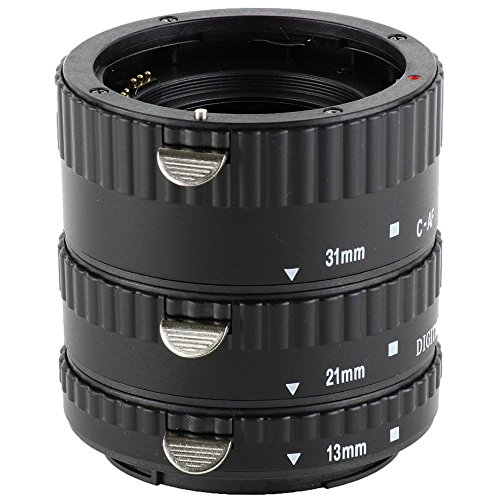 Impulsfoto Automatik Zwischenringe 3-teilig 31mm, 21mm & 13mm Fuer Makrofotographie passend zu Canon EF/EF-S EOS 40D, 30D, 20D
