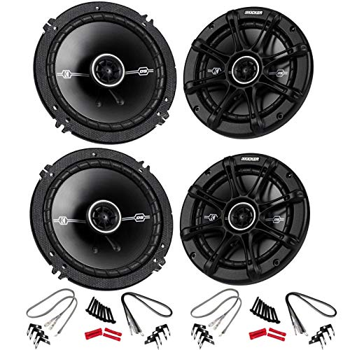 KICKER 4 41DSC654 D-Series 6.5' 480 Watt 2-Way 4-Ohm Car Audio Coaxial Speakers