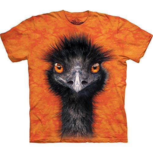 The Mountain Emu Adult T-Shirt, Orange, Large