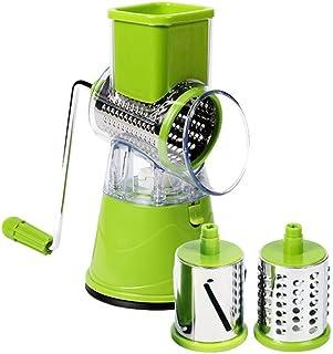 ZJZ Hachoir à légumes, Coupe-légumes manuel Trancheuse à légumes Accessoires de cuisine Multifonctionnel Rond Mandoline Po...