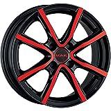 MAK MILANO 4 CERCHI IN LEGA BLACK AND RED 4.5x15 4x100