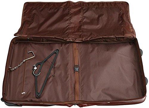 S Babila Top Grain Leather Wheeled Travel Suit / Dress Bag