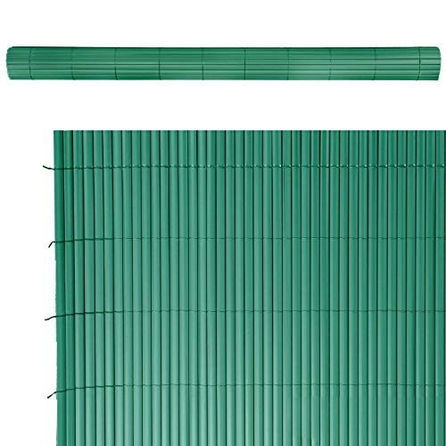 Cañizo Artificial de ocultación para jardín de PVC Verde - LOLAhome