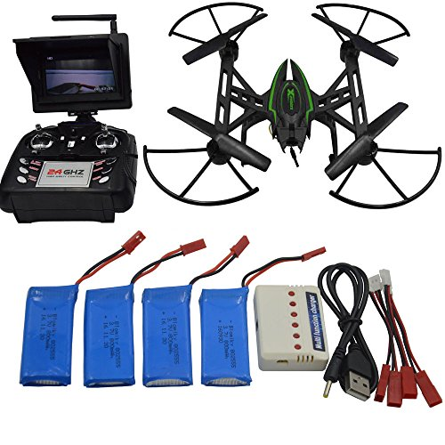 SZJJX HD Quadcopter Drone with 720P WiFi FPV Camera Altitude Hold RC Quadcopter