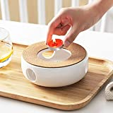 Teapot Warmer, Tea Cosy For Teapot, Porcelain Teapot Warmer Coffee Pot Heater, Teapot Base With Cork Stand To Keep The Temperature Of Tea