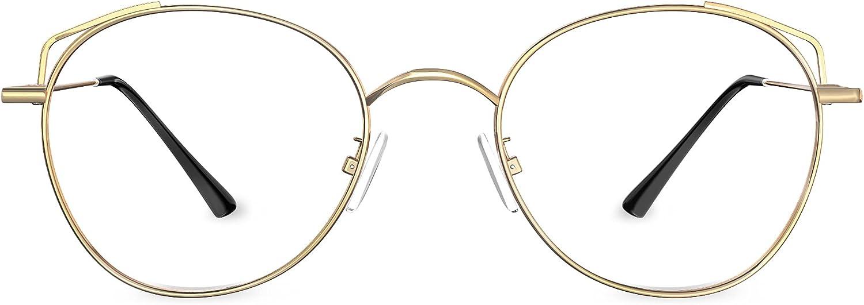 HBselect Gafas Luz Azul para Mujer Hombre, Gafas Filtro Azul Ligera con Montura, Gafas Ordenador Ojos Protección Para Tablets Móvil Televisión