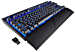 CORSAIR K63 Wireless Mechanical Gaming Keyboard, Backlit Blue Led, Cherry MX Red - Quiet & Linear (Renewed)
