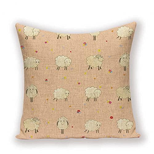 Funda Cojine Funda Almohada sofá Decorar Funda de cojín de oveja de dibujos animados rústico colorido lindo cerdo almohada decor del hogar sofá cama cojines de coche funda de almohada para niños