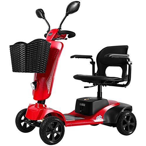 FC-LY 4 Ruedas Scooter eléctrico para Adultos Mobility Mobility Scooter Seniors Seniors Scooter de Viaje, Placa Plegable, bandada Abierta, 4 Ruedas Walker para los Ancianos
