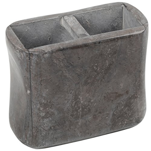Creative 32901 Home Bath Set Charcoal Marble Stone Curvy Collection Tooth Brush Holder