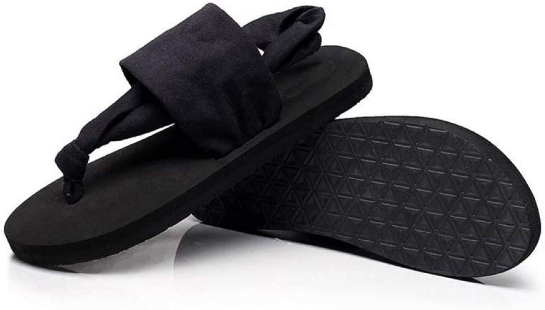 Women Flip Flops Cloth Soft Comfortable Summer Slippers Bohemian Style Beach Ladies Sandals