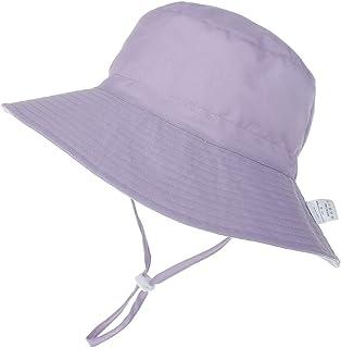 LACOFIA Chapeau de Soleil Bob Réglable pour Bébé Bonnet d'été pour Enfant Bord Large pour Piscine/Plage/Natation/Extérieur...