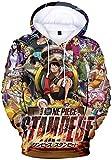 PANOZON Sudadera Hombre One Piece Impresión 3D de Luffy Camiseta con Capucha para Fanes de Rey de los Piratas (L, Cartel 08-1)