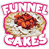 SignMission Funnel Cakes 2 12' Decal Concession Stand Food Truck Sticker, Size