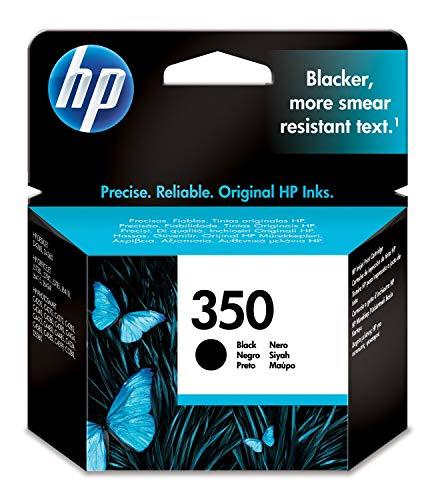 HP 350 CB335EE - Cartucho de Tinta Original, Negro, compatible con impresoras de inyección de tinta HP Deskjet D4260, D4300, Photosmart C5280, C4200, Officejet J5780, J5730
