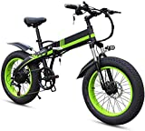 RDJM Bici electrica Bicicletas for Adultos Plegable eléctricos Comfort Bicicletas Bicicletas híbrido reclinada/Road de 20 Pulgadas, a la montaña E-Bikes-7 Velocidades de Redes de Transporte, Marco l