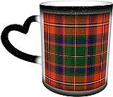 Tazas de café Somerville Sommerville Tartan sensible al calor Color cambiante taza en el cielo taza de cerámica regalos personalizados para los amantes de la familia y amigos