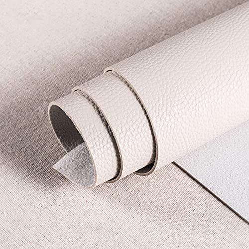 1.8mm Polipiel Tela De Cuero SintéTico para Tapizar Acolchado Manualidades Cojines O Forrar Objetos por Metros para La DecoracióN Interior del Asiento,Beige