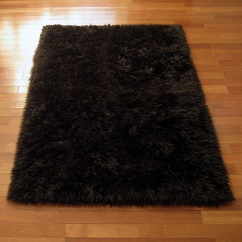 Walk on Me Classic Brown Bear Faux Fur Rug - Rectangle - New Made in France (3x5 (Actual 39