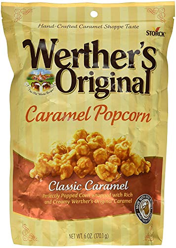 Learn More About Werther's, Original, Caramel Popcorn, Classic Caramel, 6 Ounce Bag (Pack of 9)