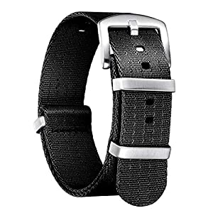 BINLUN Nylon Watch Band Multicolor Replacement Watch Straps for Men Women