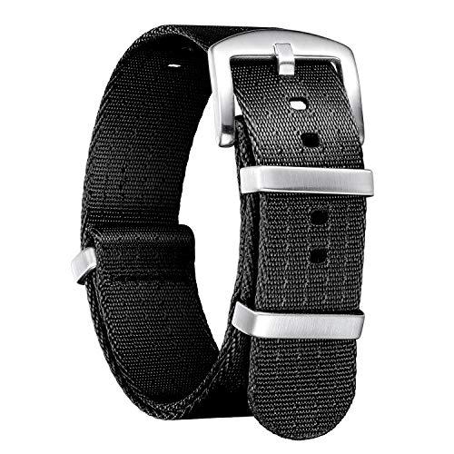NATO Cinturini di ricambio di ricambio in nylon multicolore balistico G10 Premium con fibbia in acciaio inossidabile per uomo donna 18mm 20mm 22mm 24mm (nuova versione)