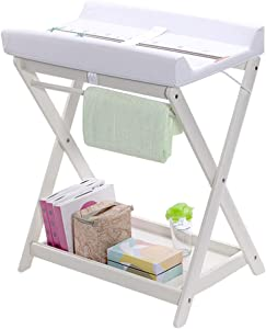 LGZW Baby Changing Table  Baby Dressing Table Massage Station  Baby Storage Space Baby Massage Station Organizer Dressing Table  Color White