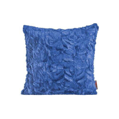 Fluffy Kissenhülle ca. 40x40 cm kuschelweicher Plüsch in Felloptik (10 Blau) 1 Stück