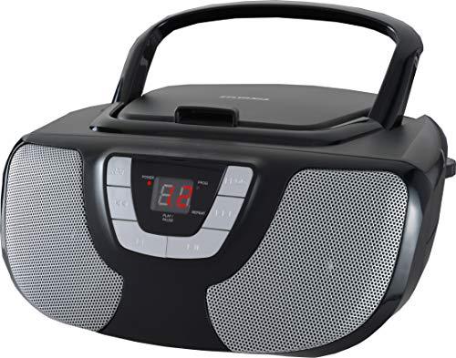 Sylvania SRCD243 Portable CD Player with AM FM Radio, Boombox (Black)