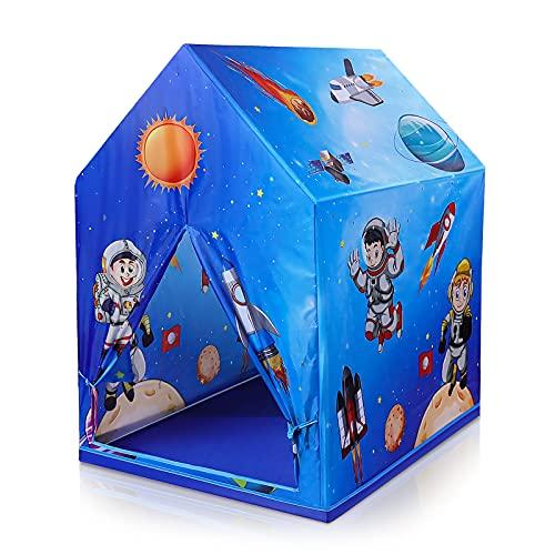 Czemo Tenda da Gioco Bambini, Tema del Pianeta Spaziale Tenda per Bambini, Casetta dei Giochi per Interni ed Esterni, Tenda Campeggio Portatile, Regalo per Bambini