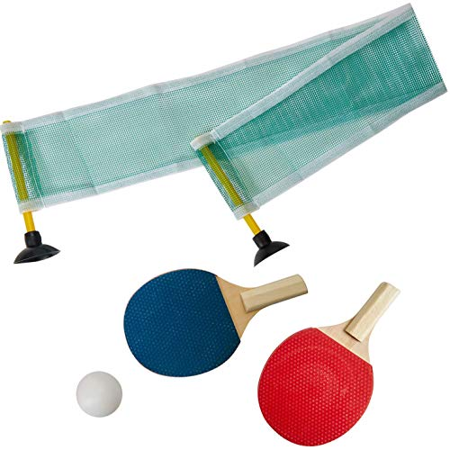 Kicko Mini Ping Pong Set - Table Tennis - 6.25 Inch - Party Sport and Summer Game - Indoors, Outdoors, Party Favors, Decorations, Birthdays, Holidays, Novelties, Stocking Stuffers
