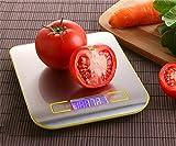ZHPBHD Acero Inoxidable Hornear balanzas de Cocina balanzas electrónicas gramsfood Las Mini Escalas Tradicionales del pequeño hogar Medicina China precisa 5kg / 1g (Color : Yellow)