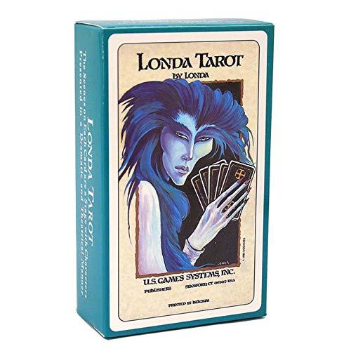 GKJ 78Pcs / Londa Tarot Universal Vintage Adivinación Futuro Juego de Cartas Juego de Mesa Juego