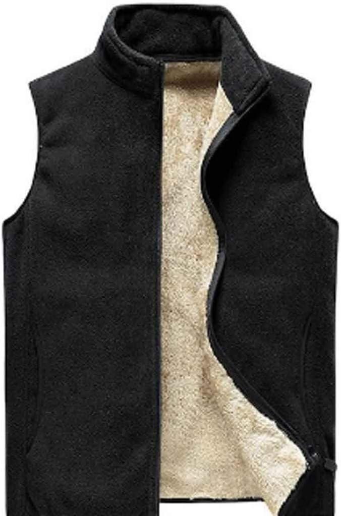 PDGJG Men's Sleeveless Vest Jacket Winter Fashion Vest Men's Cotton Waistcoat Jacket Men's Warm Vest Clothing (Size : M code)