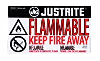 Justrite 29004 Lableハズ警告可燃性、小型