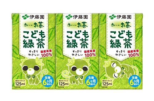 伊藤園 おーいお茶 こども緑茶 国産茶葉100% 125ml×3本 6480