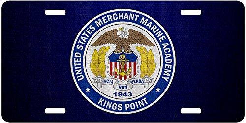 ExpressItBest Premium Aluminum License Plate - U.S. Merchant Marine Academy (USMMA), Seal