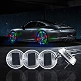 Sidaqi Car Tire Wheel Lights,4PCS Solar Energy Car Wheel Hub Lamp Hot Wheel Lights with Motion Sensors Colorful LED Tire Light Decorative Lights Waterproof for Car Auto Motorcycles Bicycles