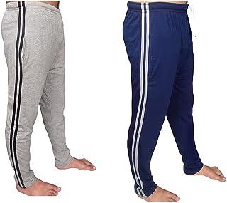 Bahob® Mens Long Lounge Wear Pants Nightwear 1 & 2 Pack Pyjama Bottoms Sleepwear Elasticated Waist Striped Jogging Casual ...